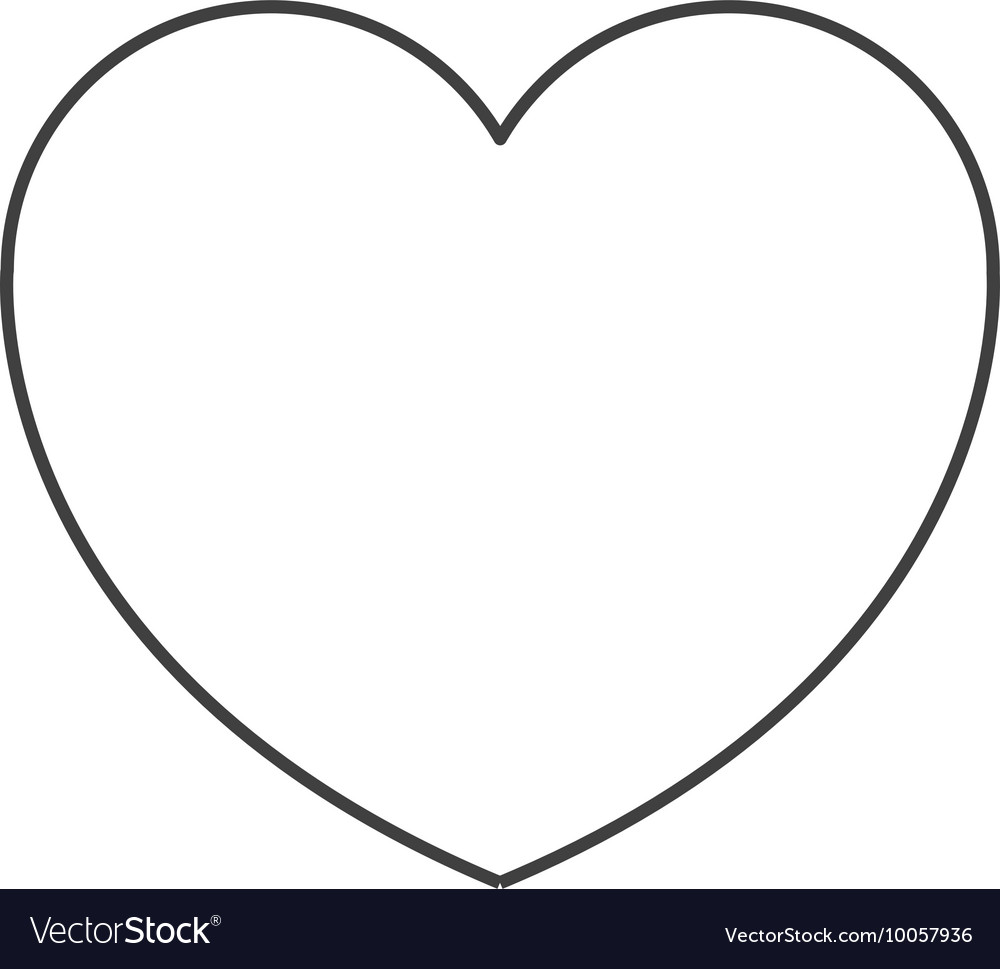 Heart cartoon icon vector