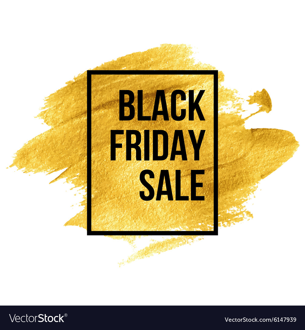 Black friday designs on gold blob vector