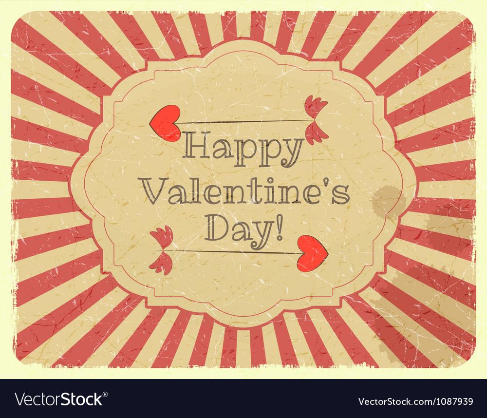 Grunge design valentines day card vector
