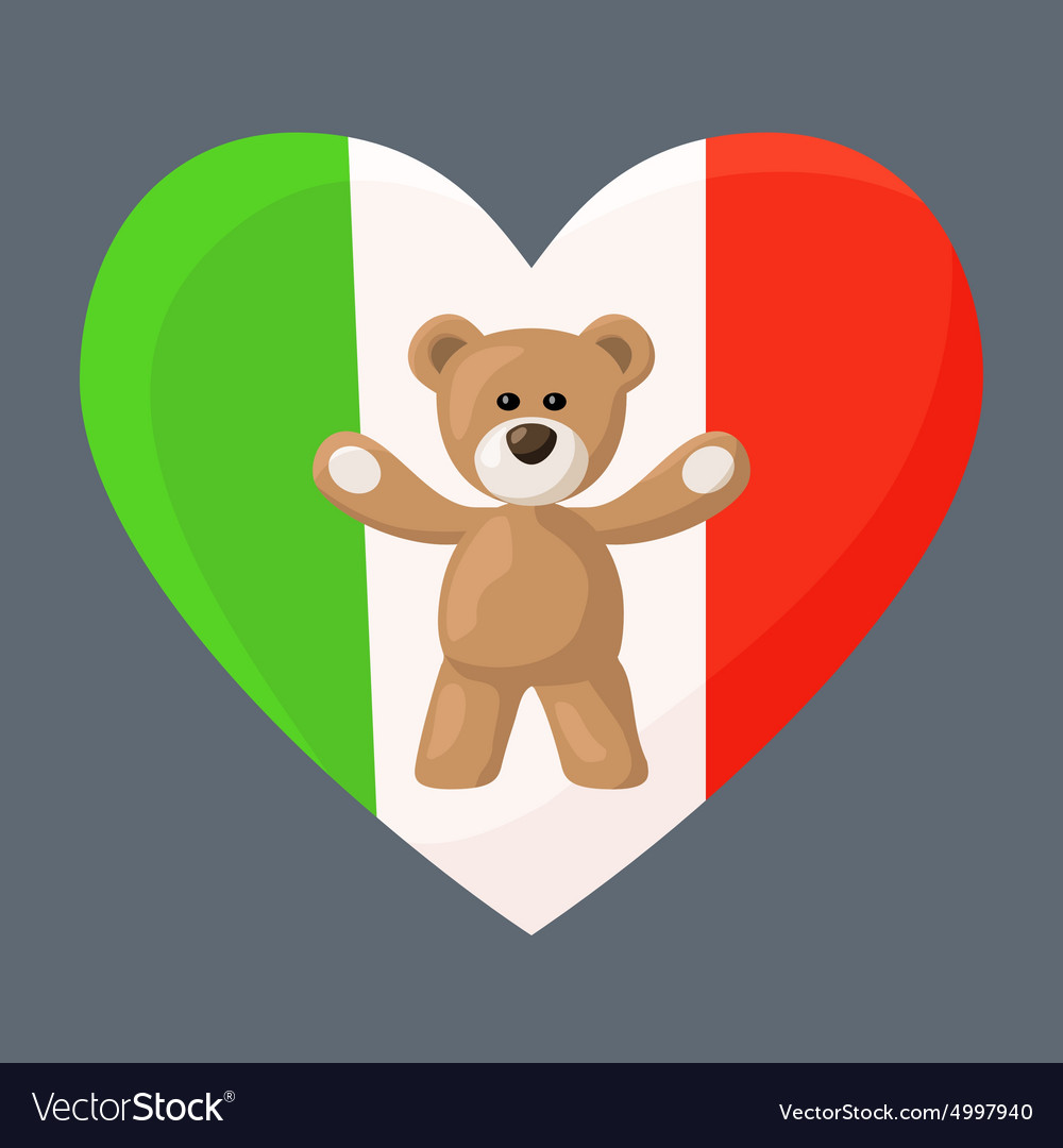 Italian teddy bears vector