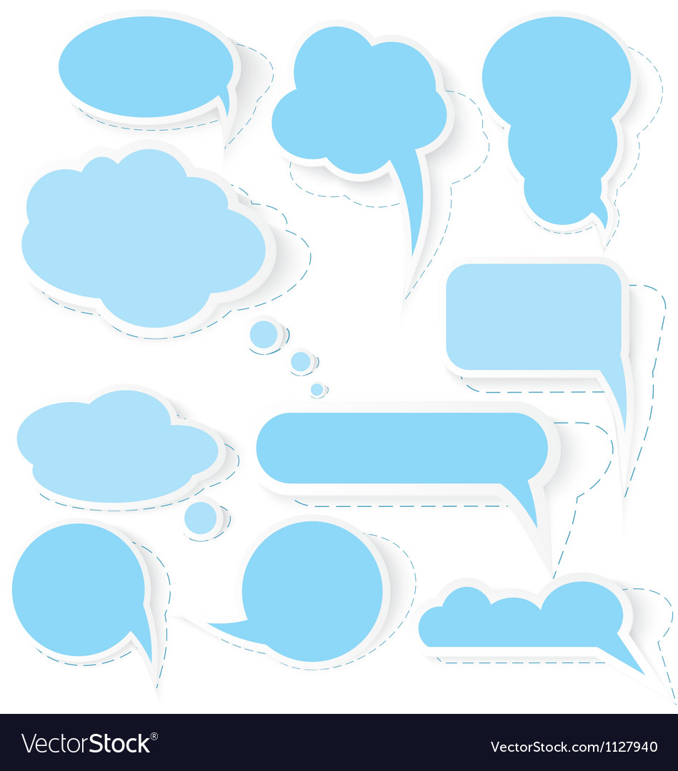 Speech bubble stickers vector