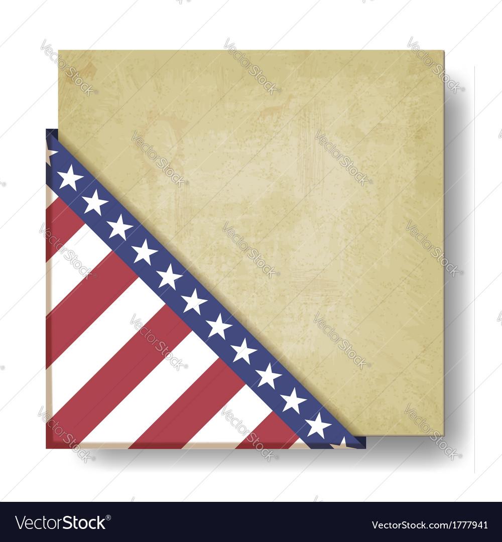Vintage background with stripes and stars corner vector