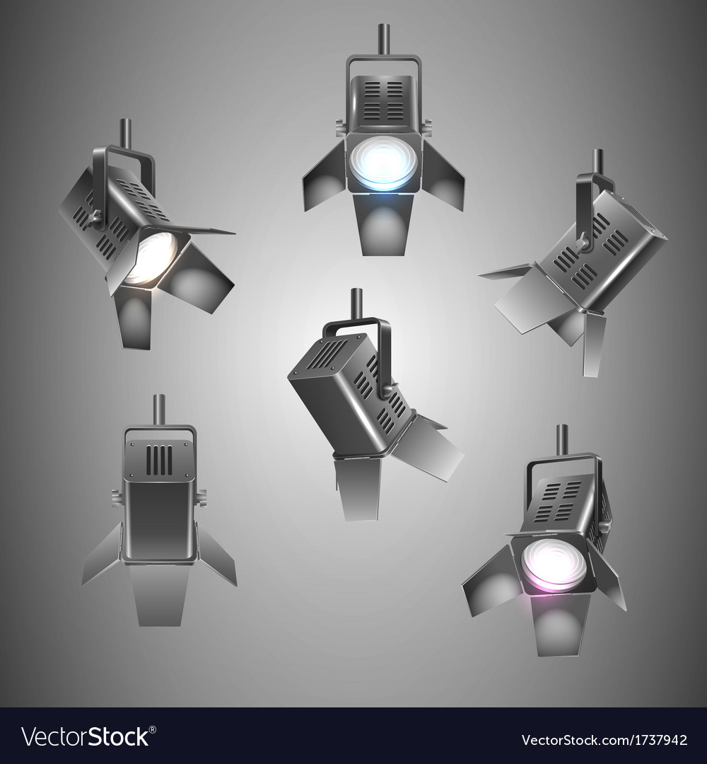 Stage lighting vector
