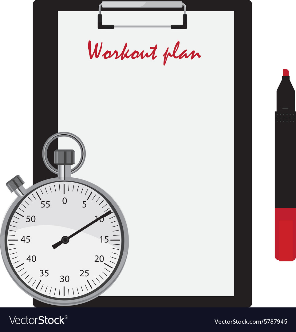 Workout plan vector