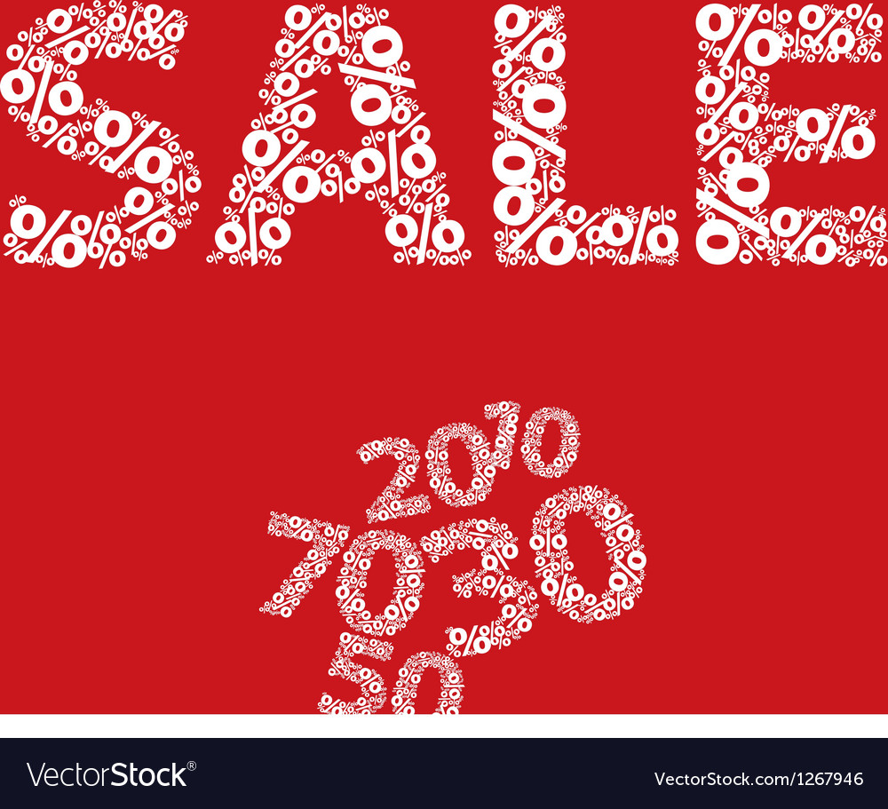 Sign shop sale vector