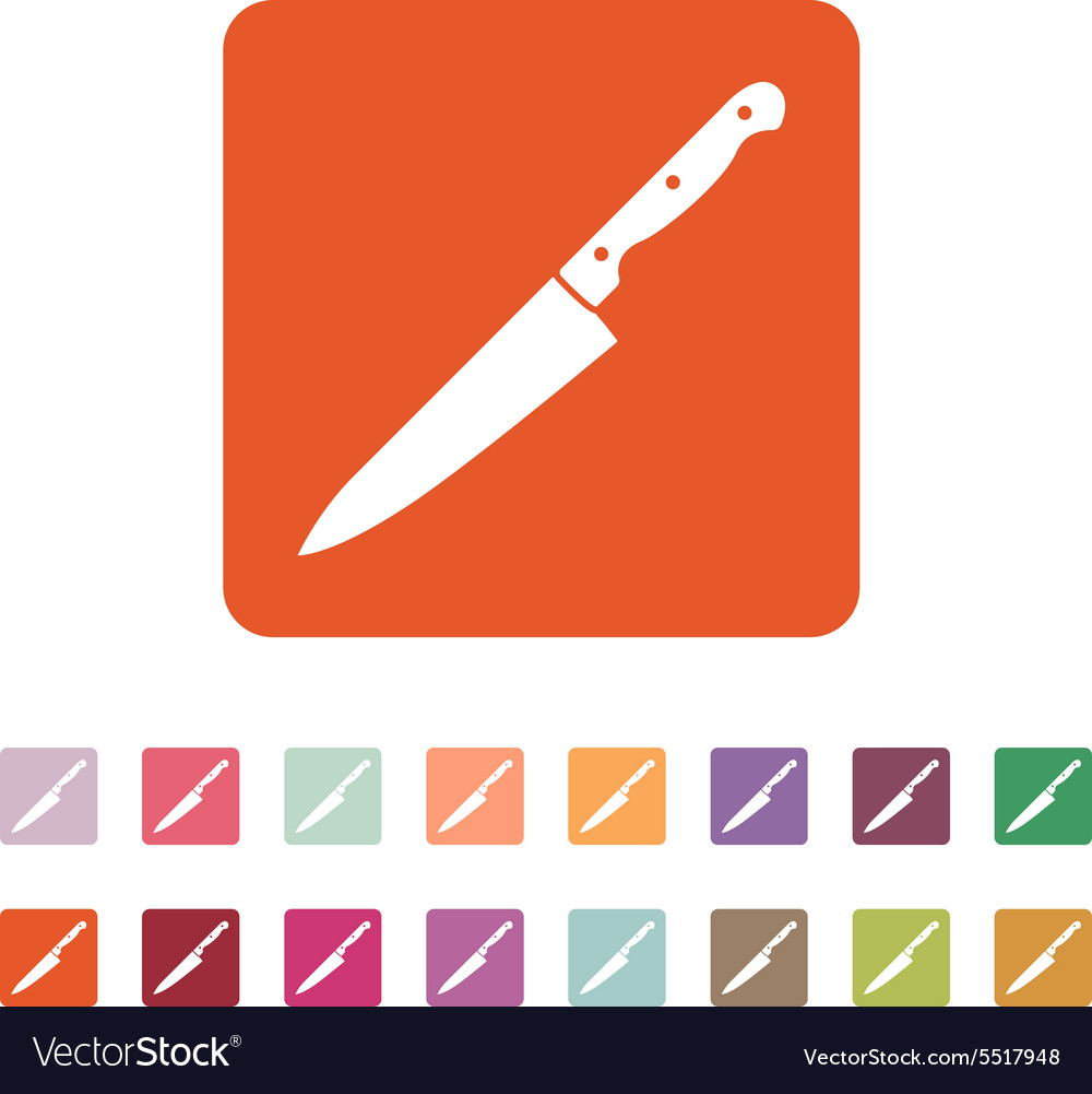 Knife icon chopper knife symbol flat vector