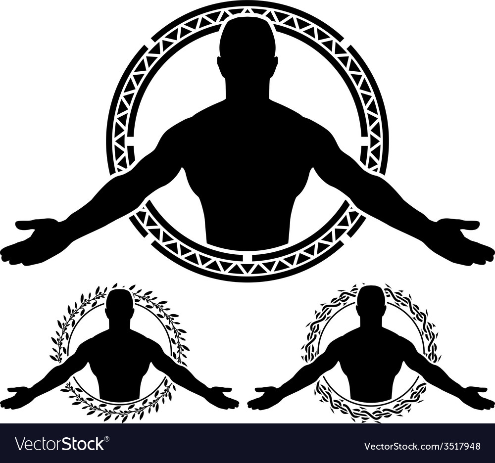 Man in circle vector