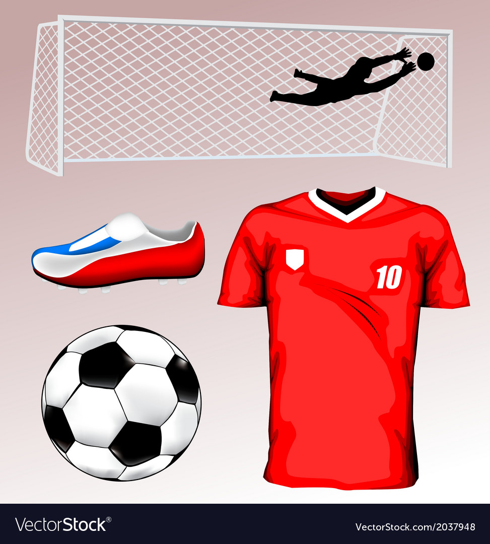 Soccer elements vector