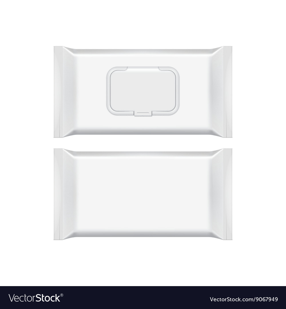 Blank packaging template mockup isolated on white vector