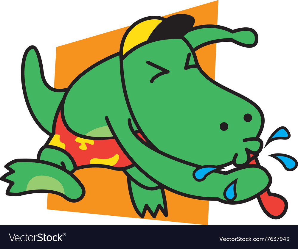 Dinosaur blow whistle vector