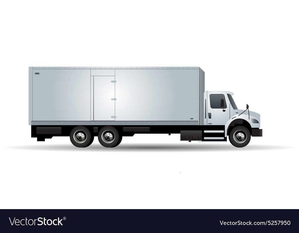 Truck isolated on white background vector