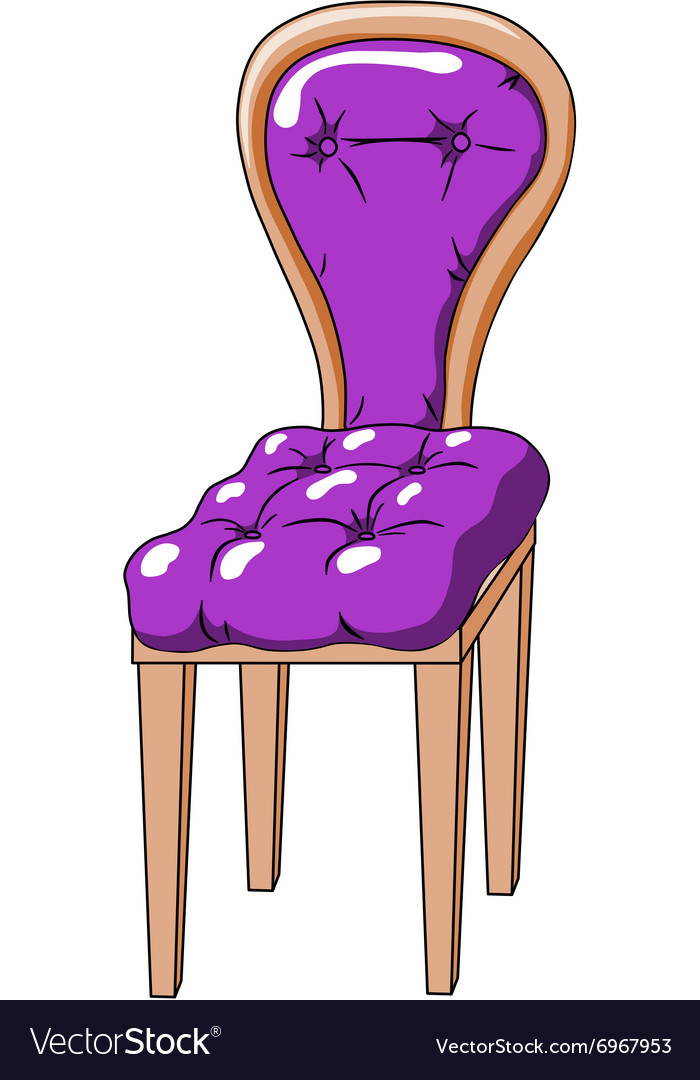 Purple chair vector
