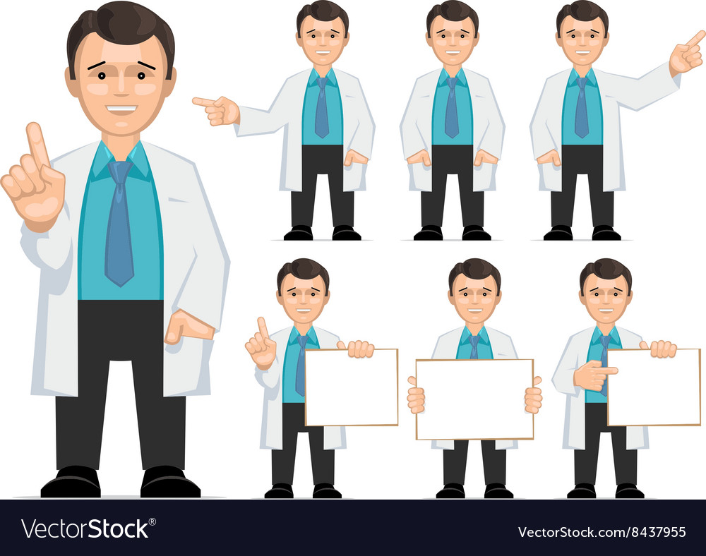 Doctor scientist teacher vector
