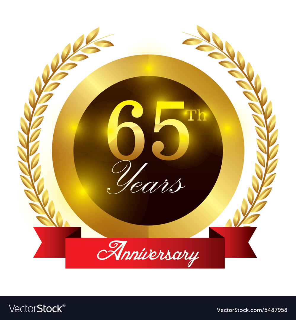 Anniversary label design vector
