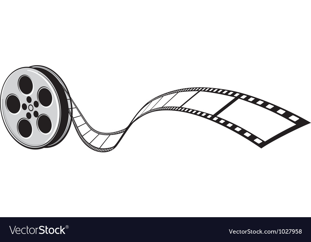 Cinema projector and film strip vector