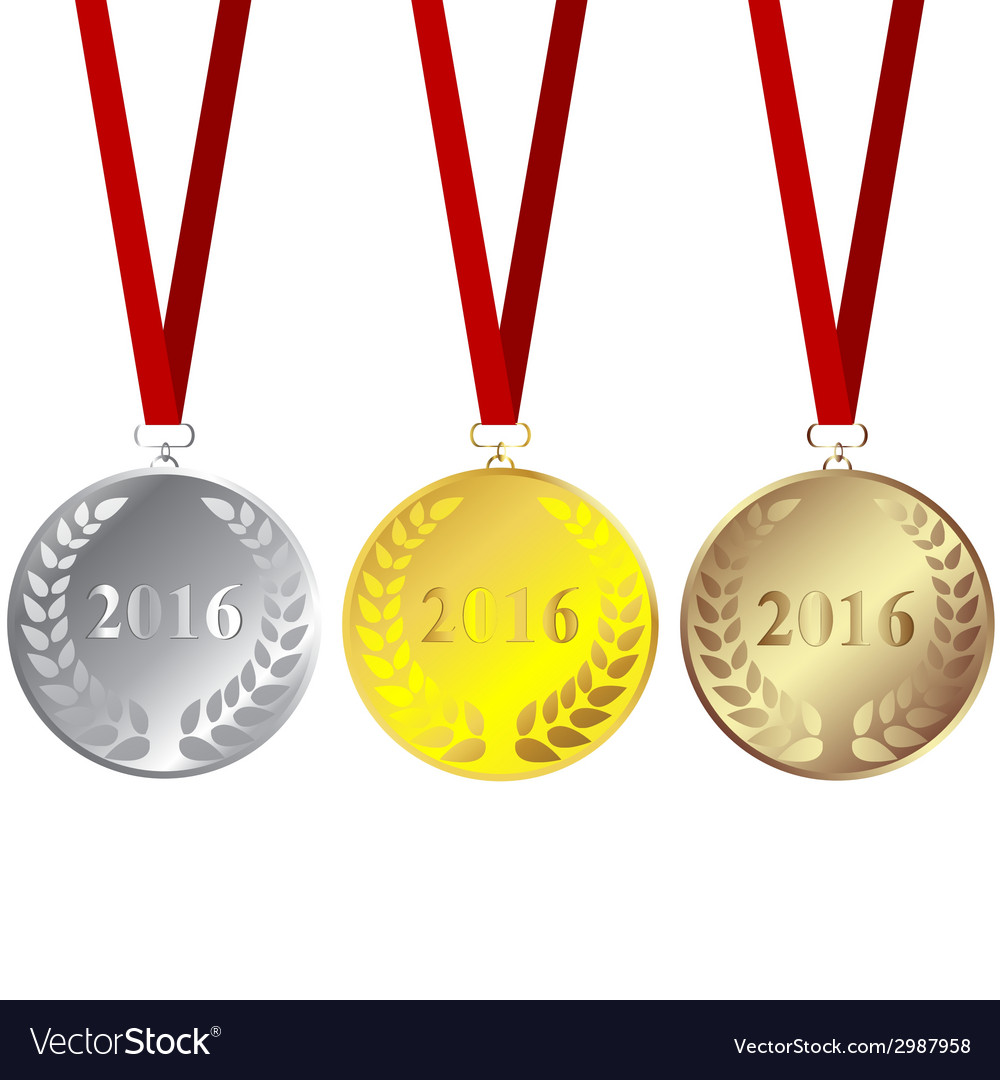 Set of 2016 medals vector