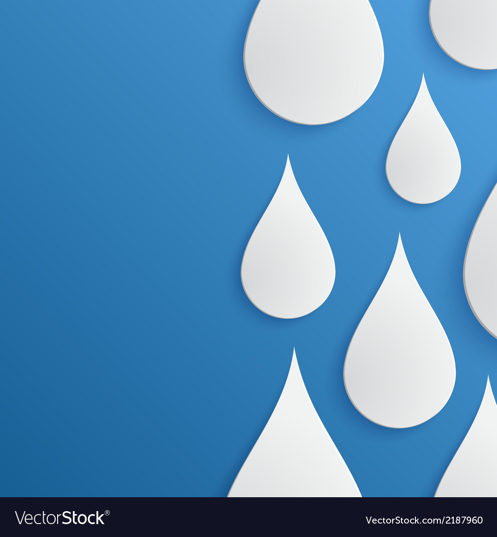 Paper water drop abstract background vector