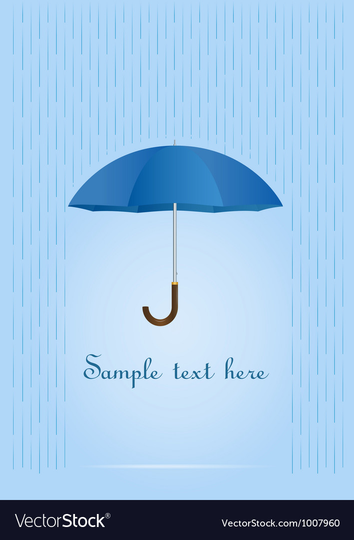 Umbrella card vector
