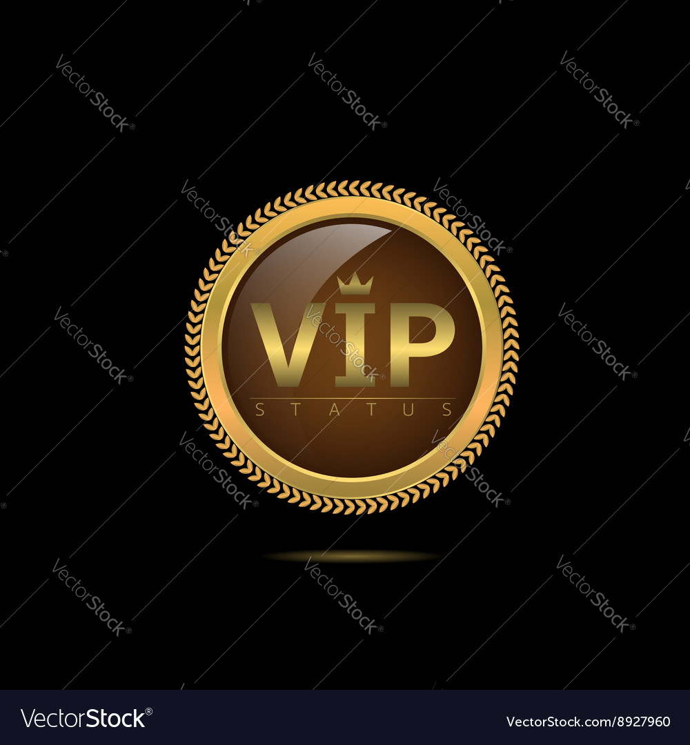 Vip status label vector