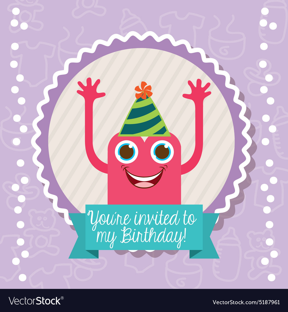 Birthday invitation vector