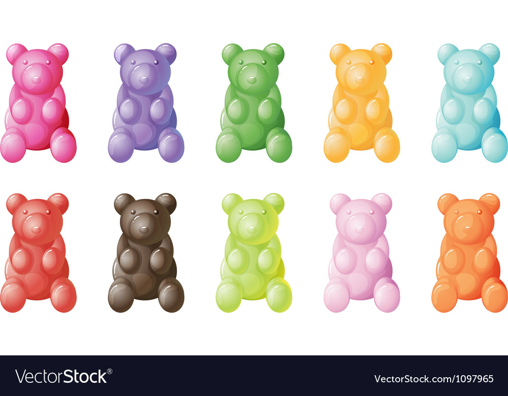 Gummy bears vector