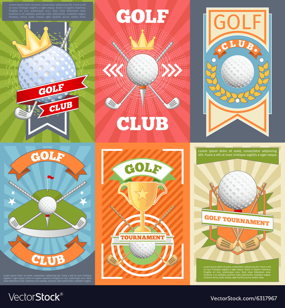 Golf club posters vector