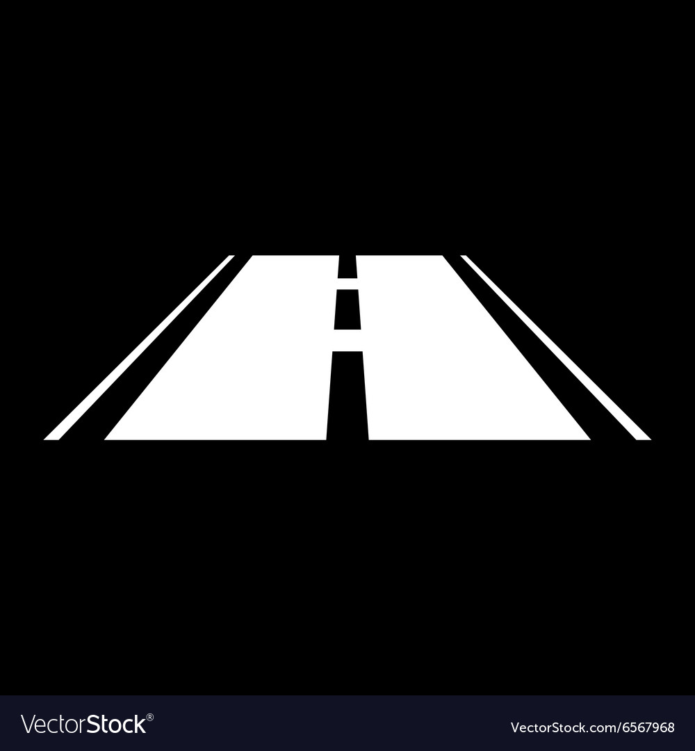 Road icon highway symbol flat vector