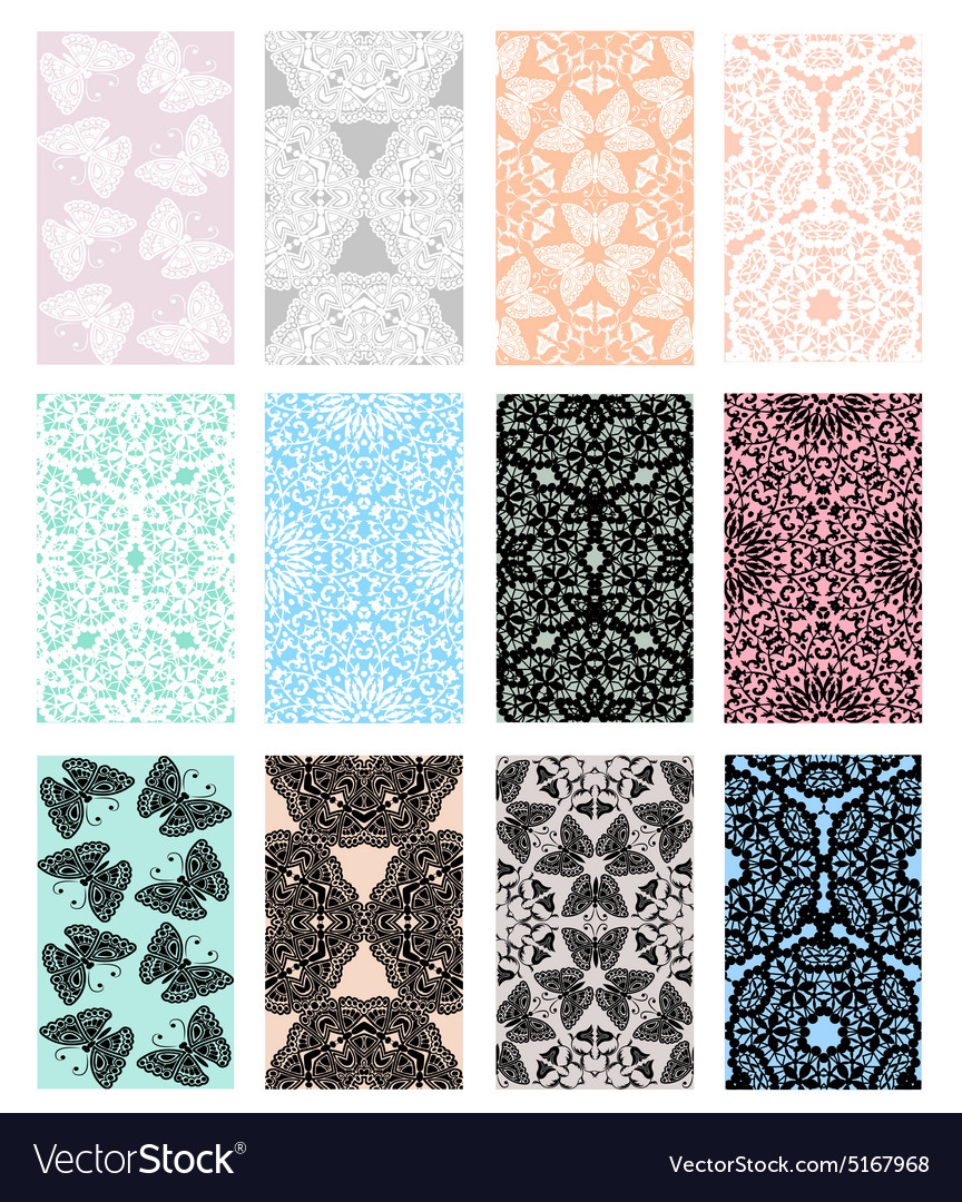 Set of lace vector