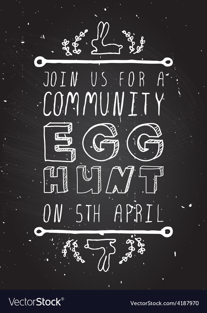 Handsketched easter typographic element vector