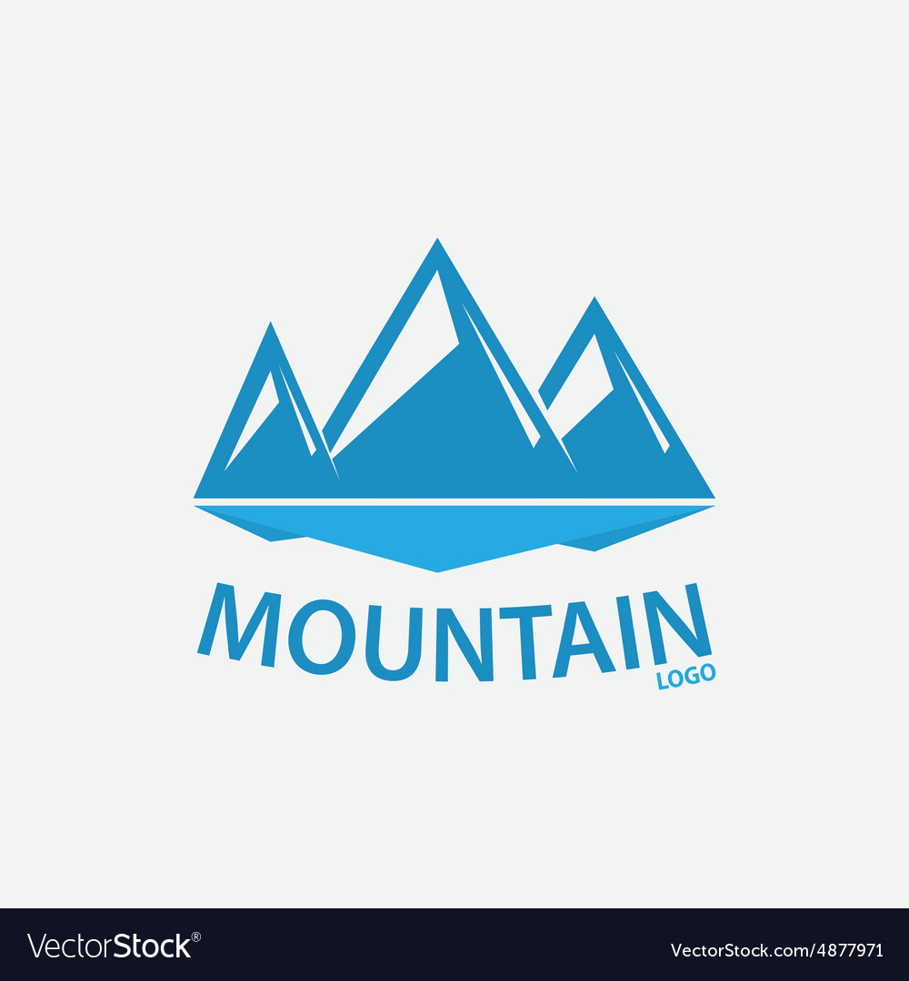 Logo design element mountain hill rock vector