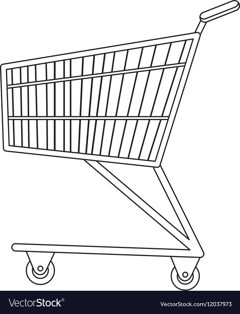 Shopping carts icon line sketch doodle style vector