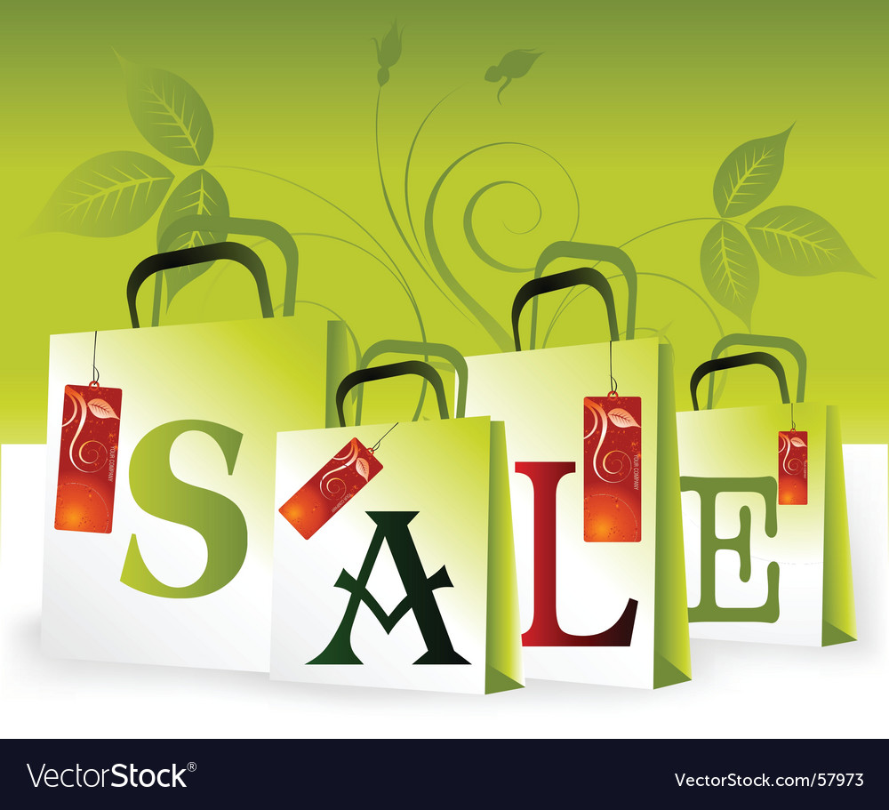 Shopping sale vector