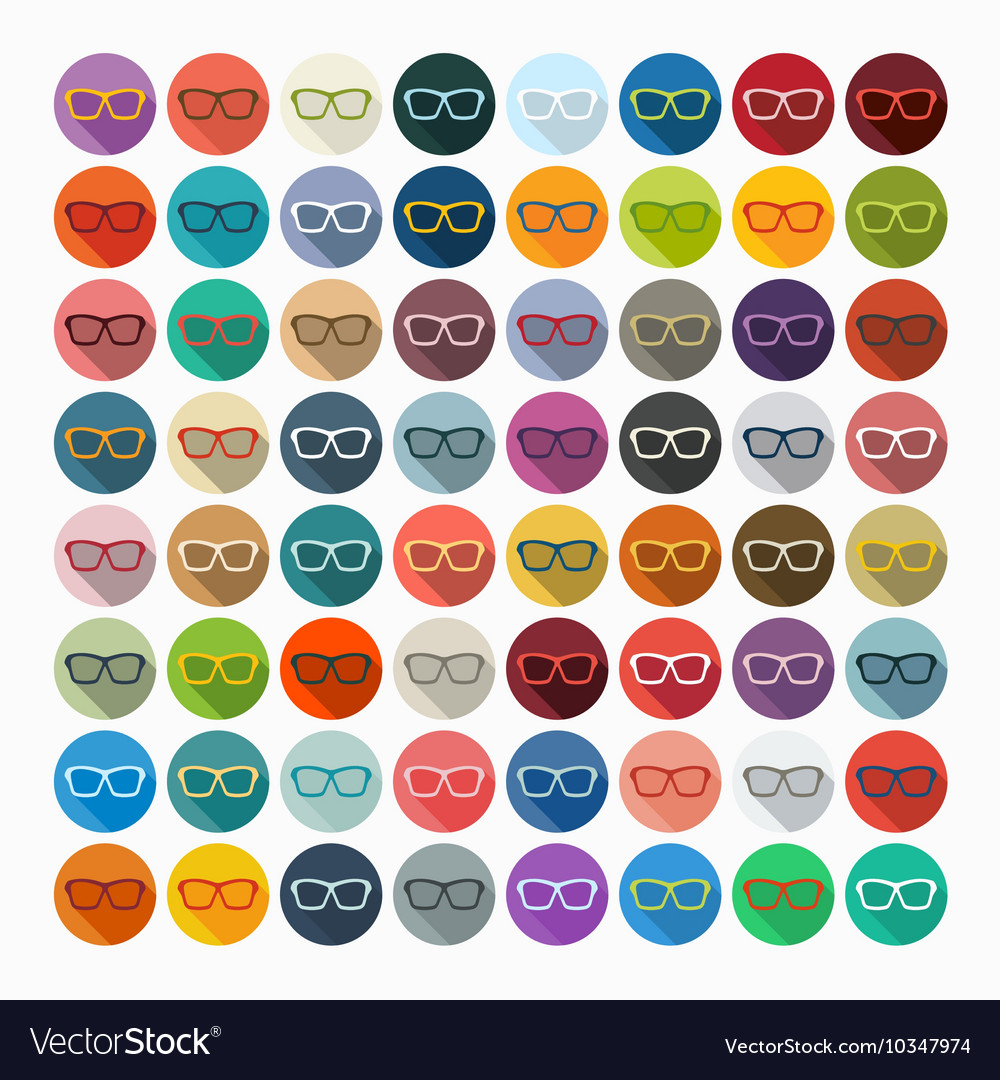 Flat design glasses vector
