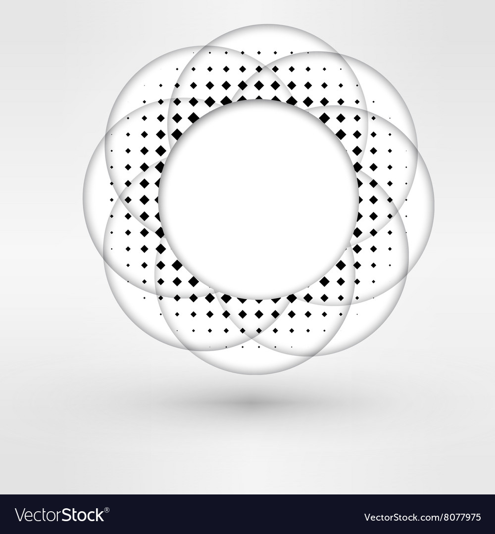 Circle halftone element for your design technology vector