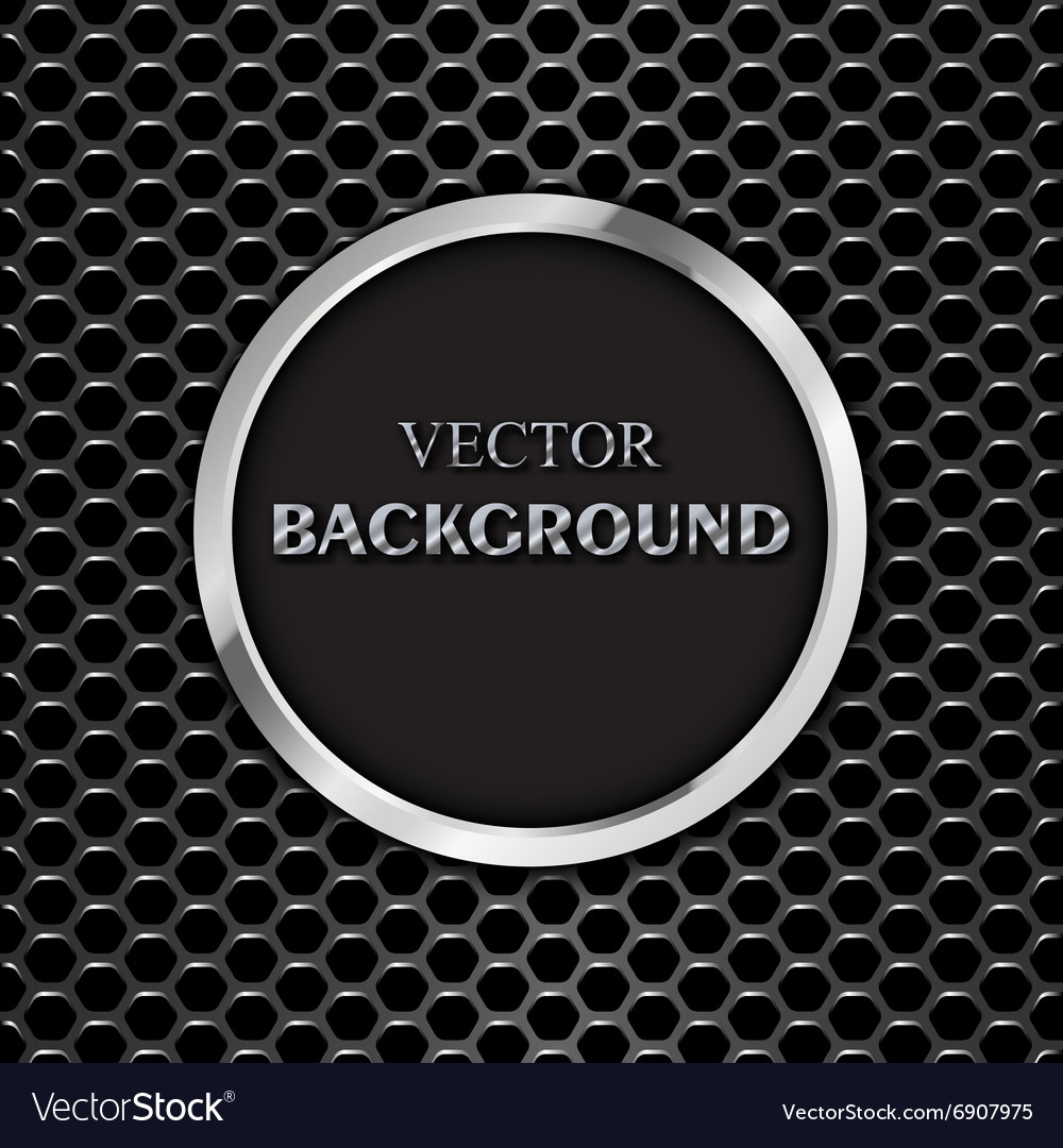 Round metal frame vector