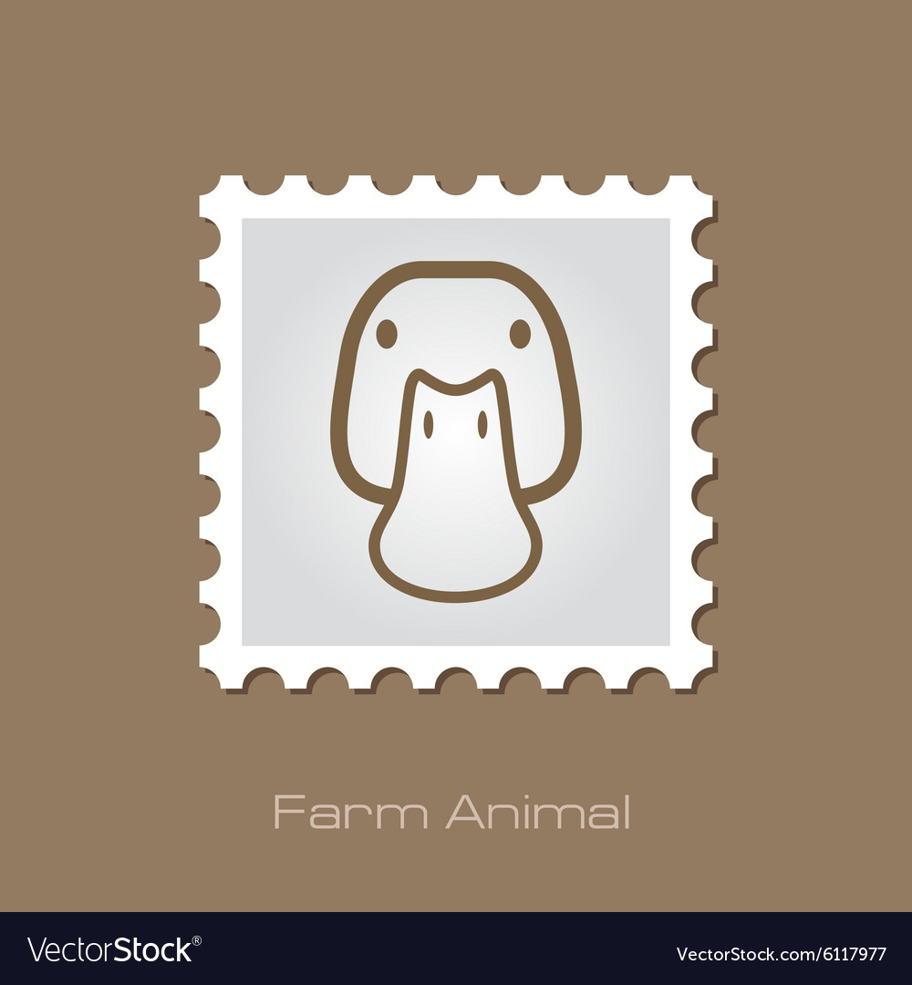 Duck stamp animal head vector