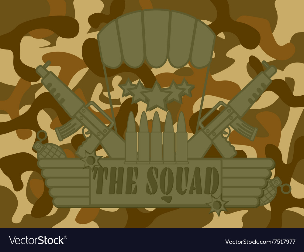 Military logo the squad vector