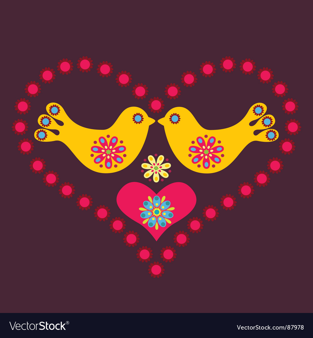 Lovebirds vector