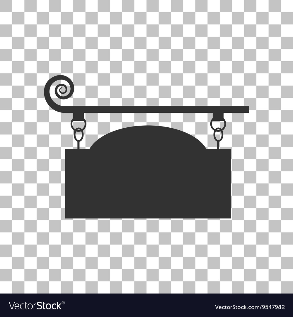 Wrought iron sign for oldfashioned design dark vector