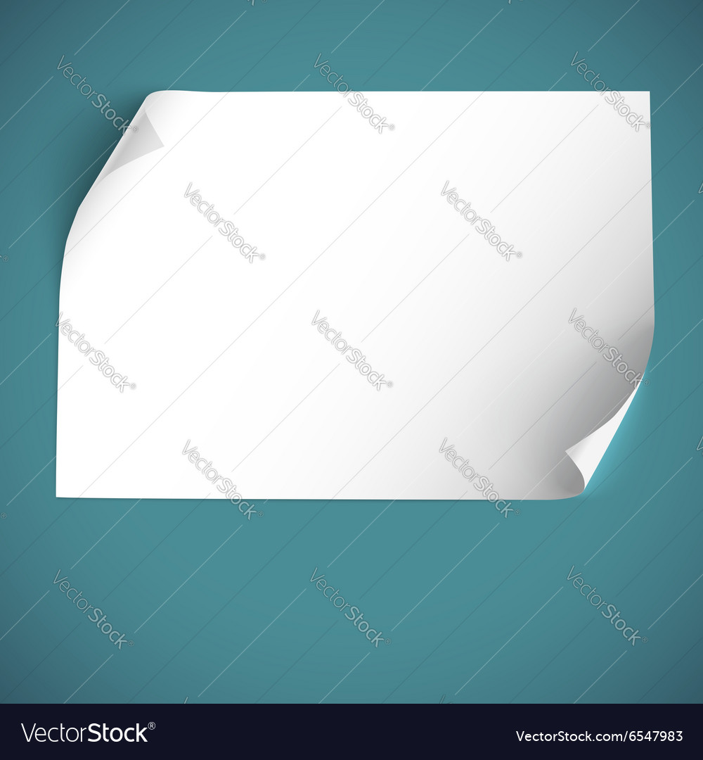 Blank curved paper template vector