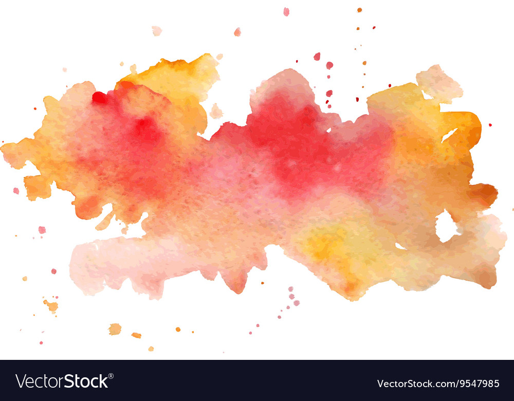 Watercolor abstract hand painted background vector