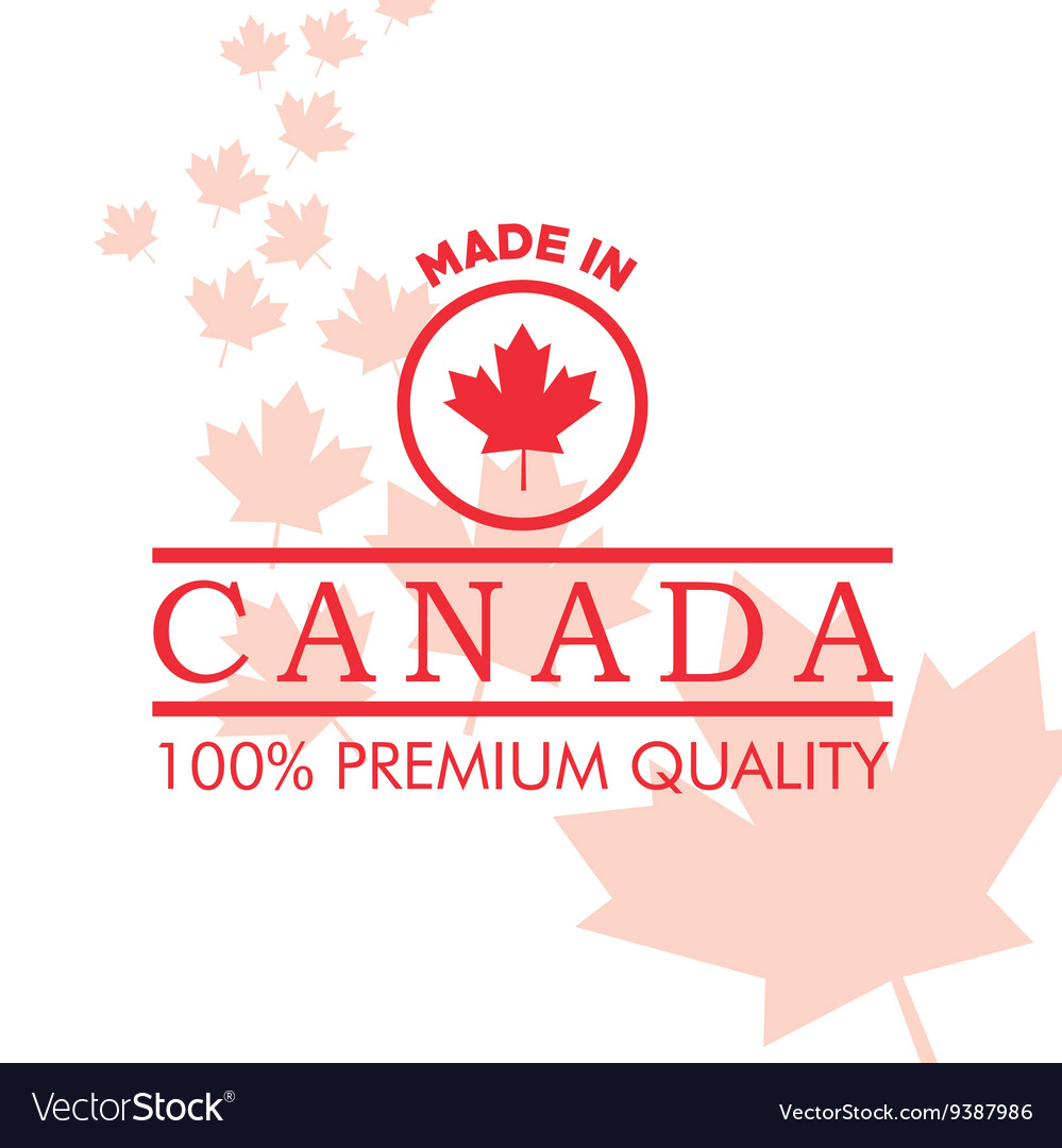 Canadas county design maple leaf icon made in vector