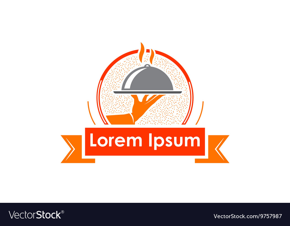 Restaurants and catering companies icon vector
