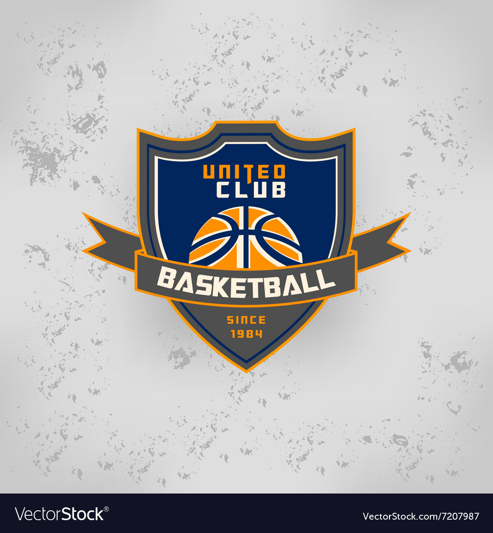 Sport basketball team game logo vector