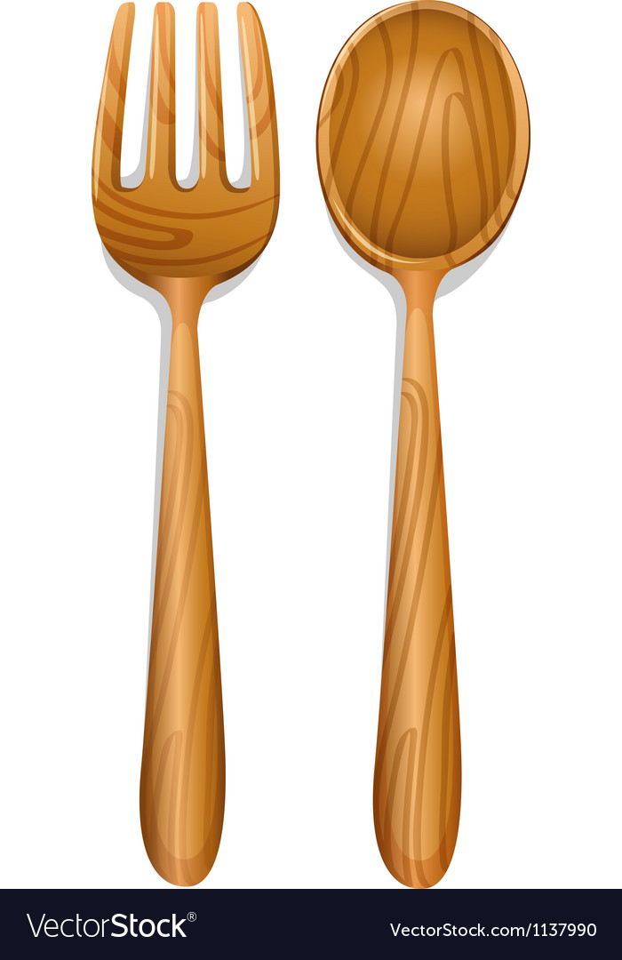 A wooden spoon vector