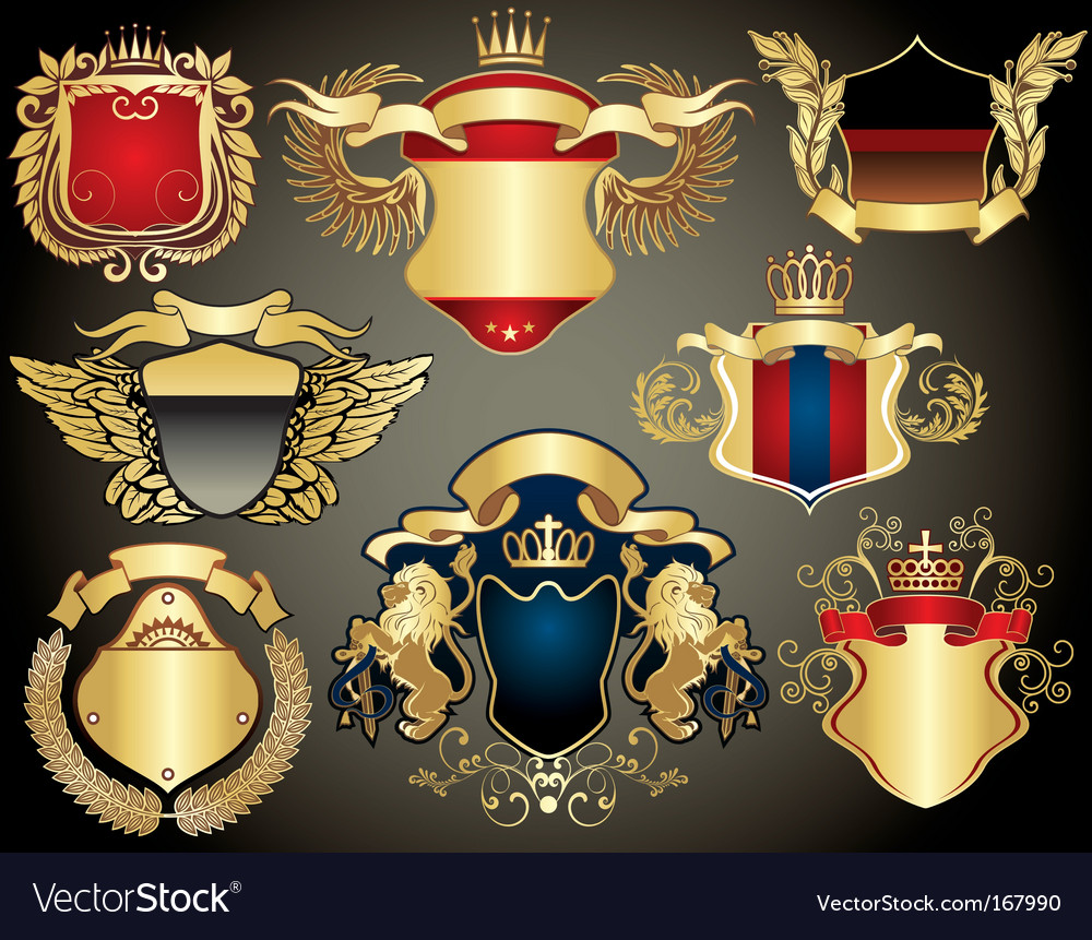 Gold heraldry vector