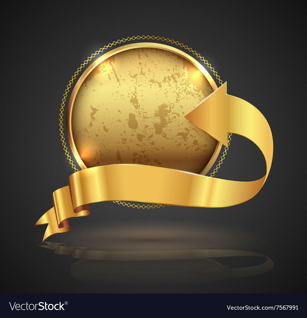 Gold badge vector