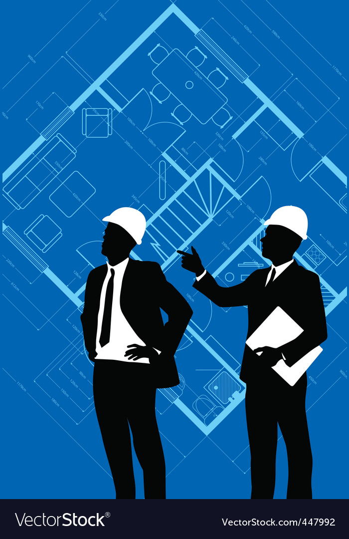 Construction silhouettes vector