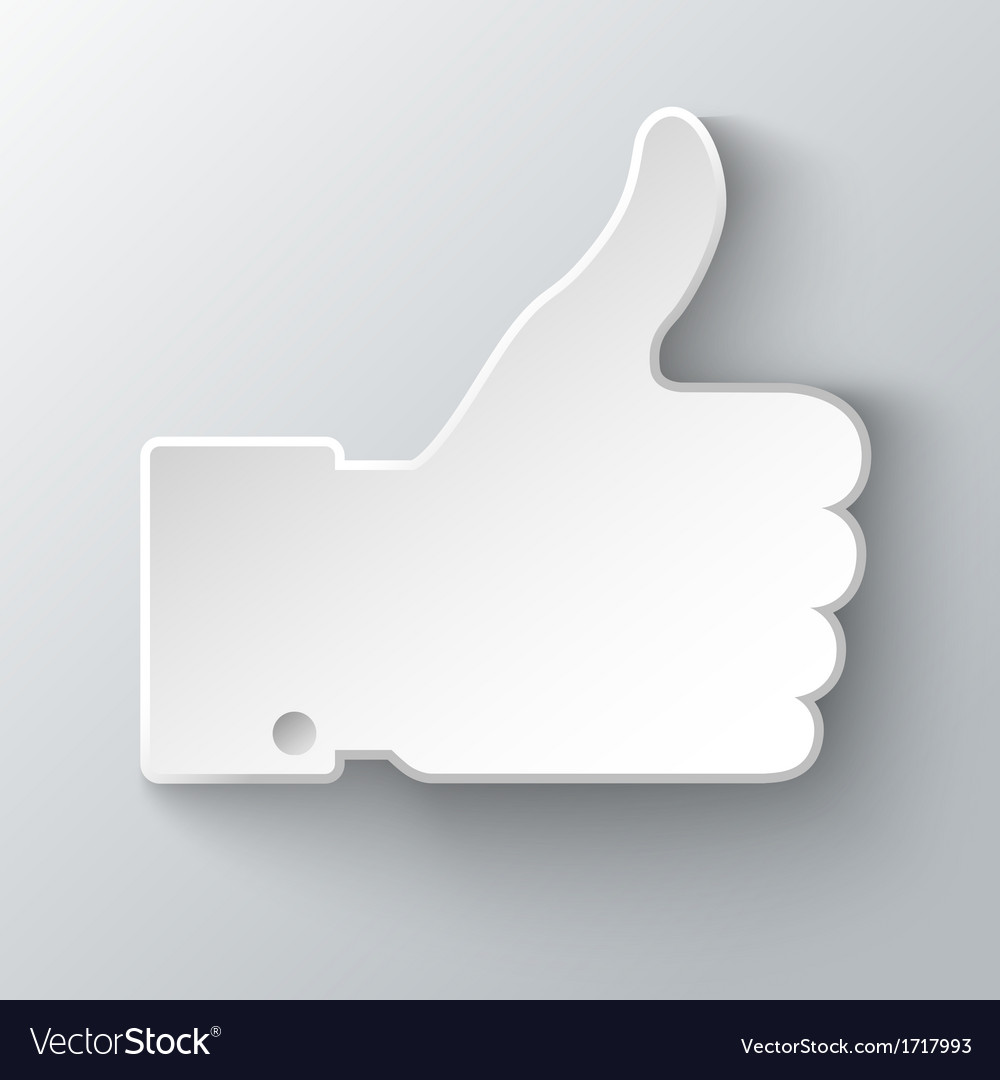 Thumb up applique vector