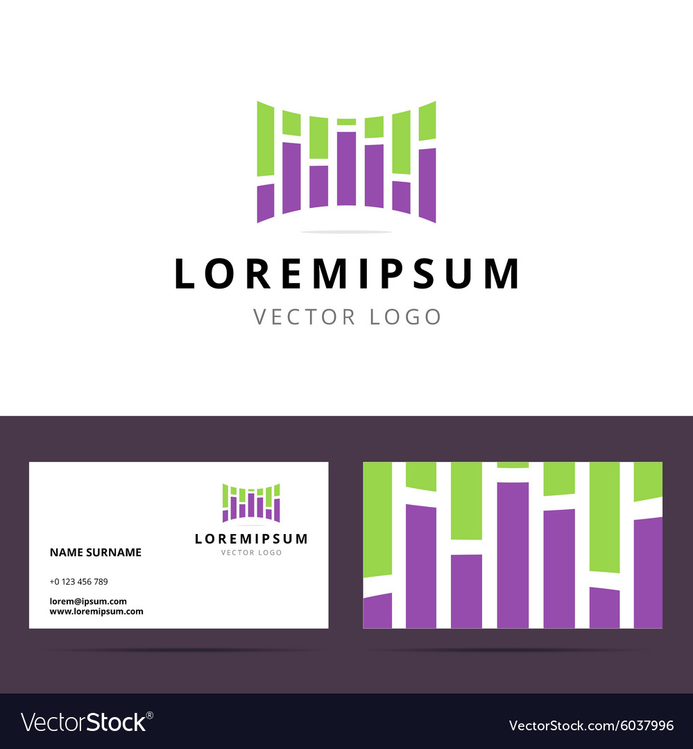 Logo and business card template for sound or vector